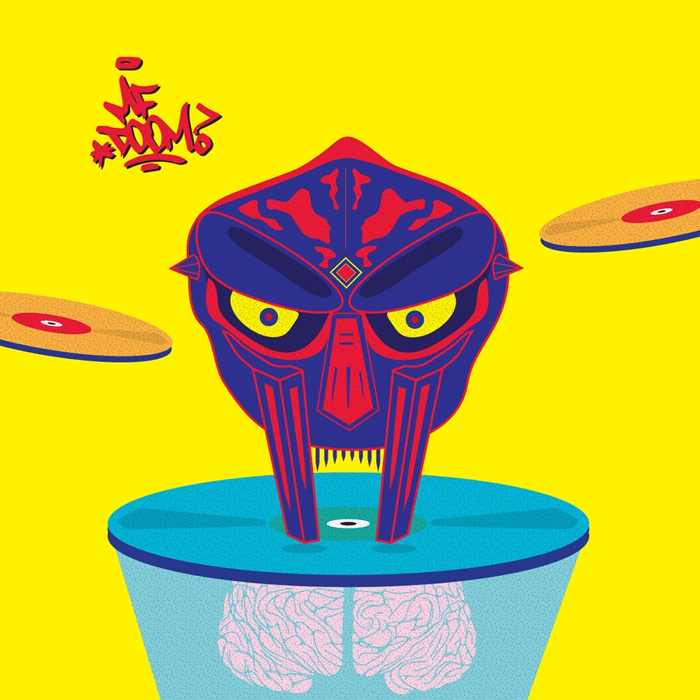 MF DOOM - Black Dante - art, illustration - funpowder | ello