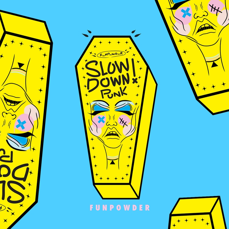 Slow Punk! - Sticker concept - coffin - funpowder | ello
