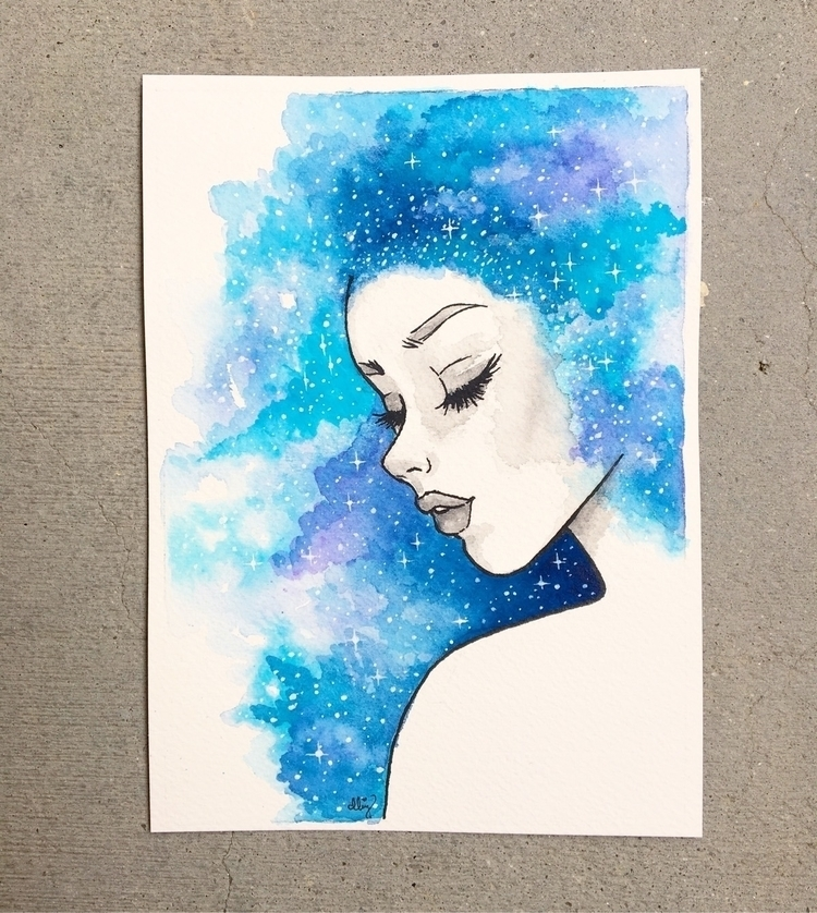 galaxy girl art - danielleboinayart | ello