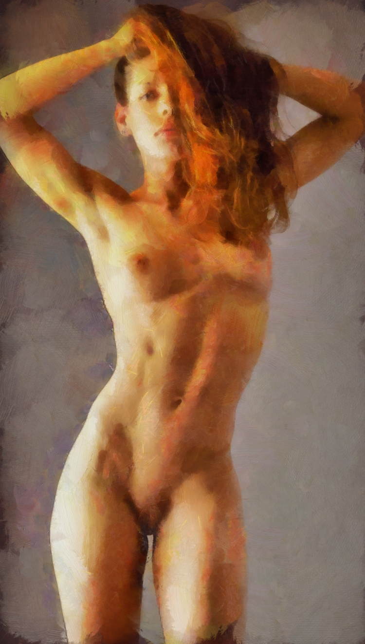 fineart, nude, nsfw, aquarell - bloodredpulse | ello