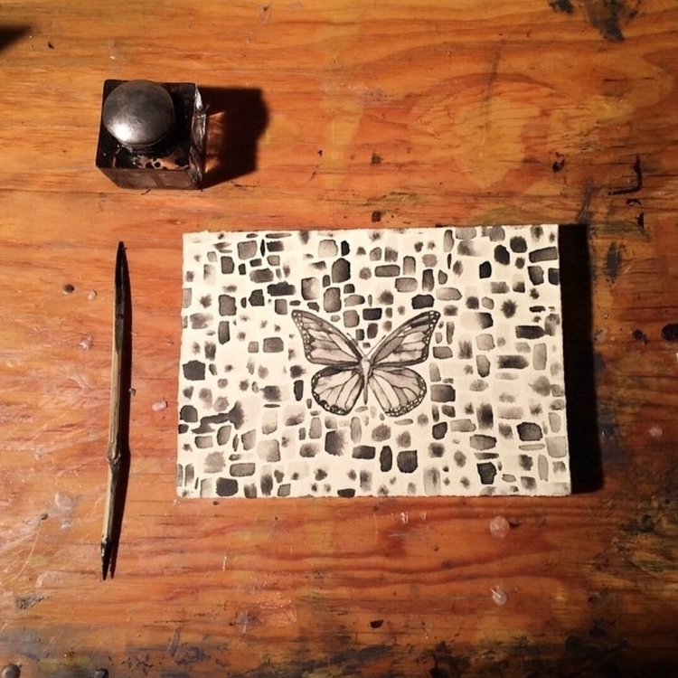 Ink paper - painting, drawing, ink - alexakarabin | ello