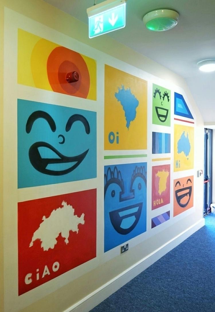 Mural painted hostel - art, spraypaint - shaneomalleyart | ello