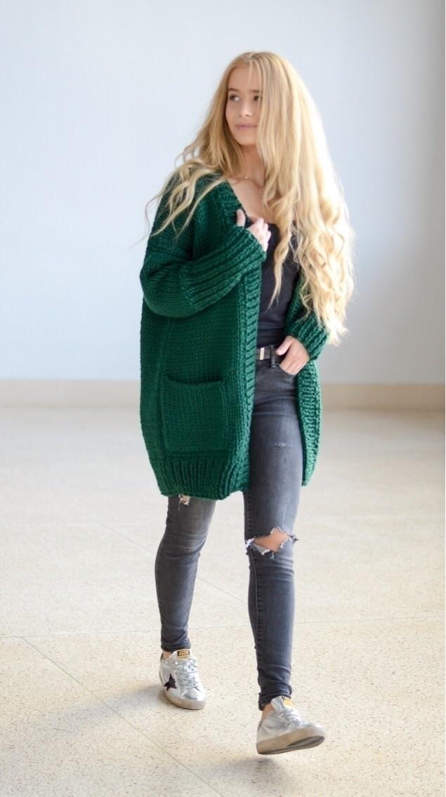 Comfy oversized cardigan high q - shoplalune | ello
