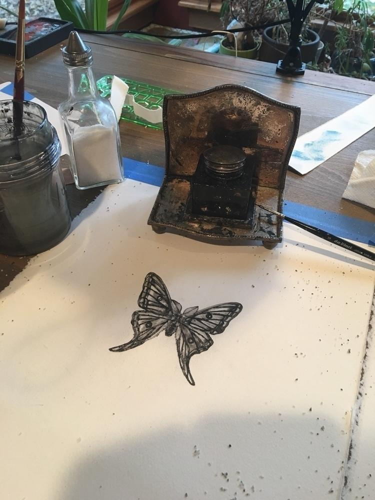ink, painting, salt, artwork - alexakarabin   ello