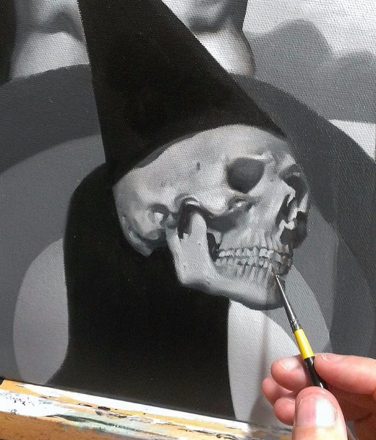 Detail commission progress. oil - stevelawsonart | ello