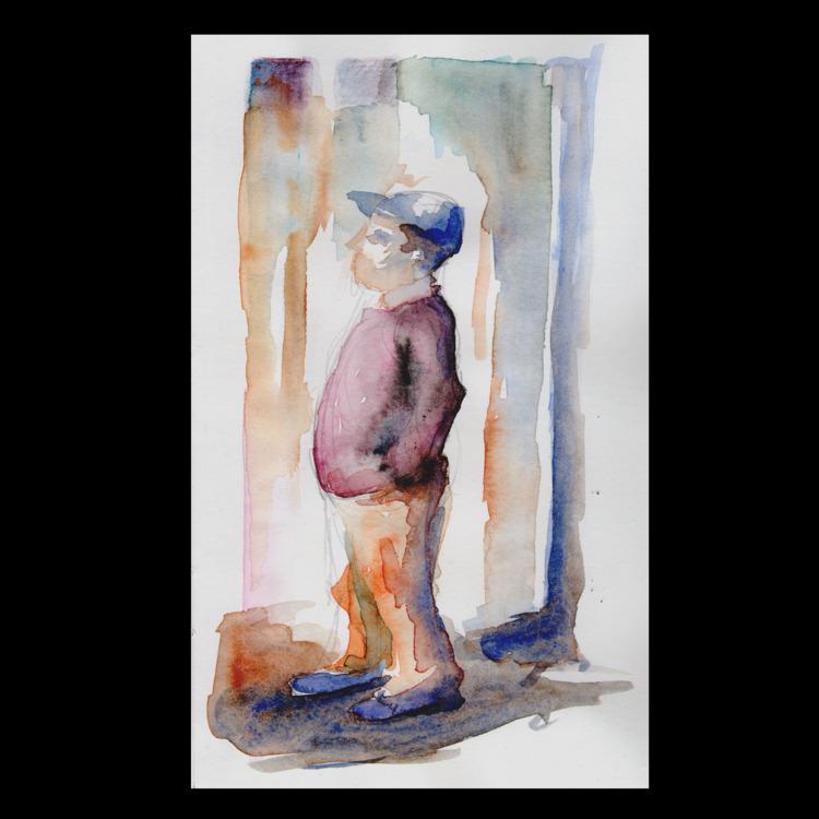 Tourist - watercolor, watercolour - ckrabbe | ello