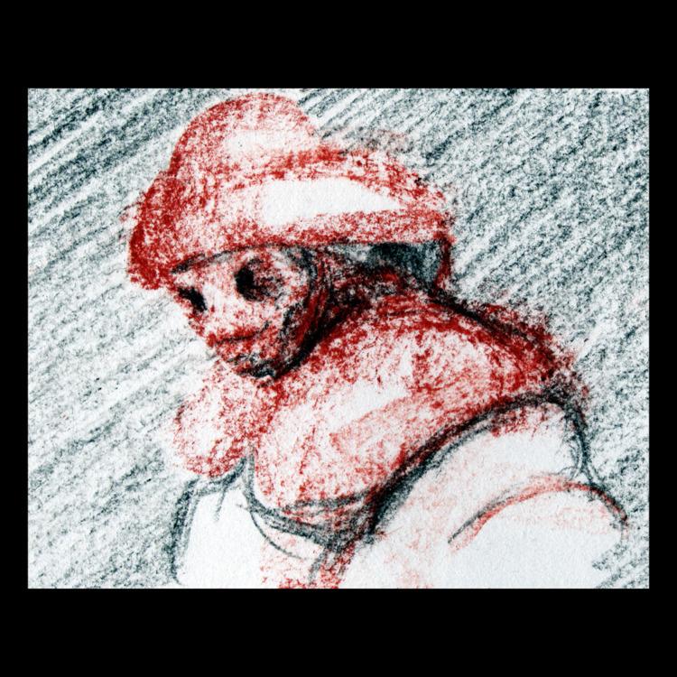 red mannikin - sanguine, charcoal - ckrabbe   ello
