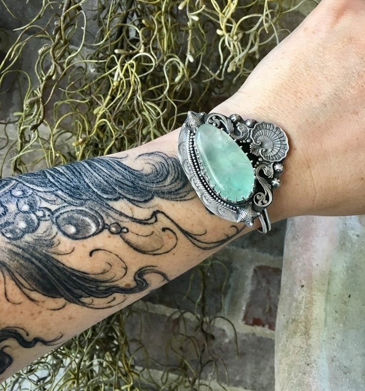 finished Mermaid Cuff shop feat - willowmetals | ello