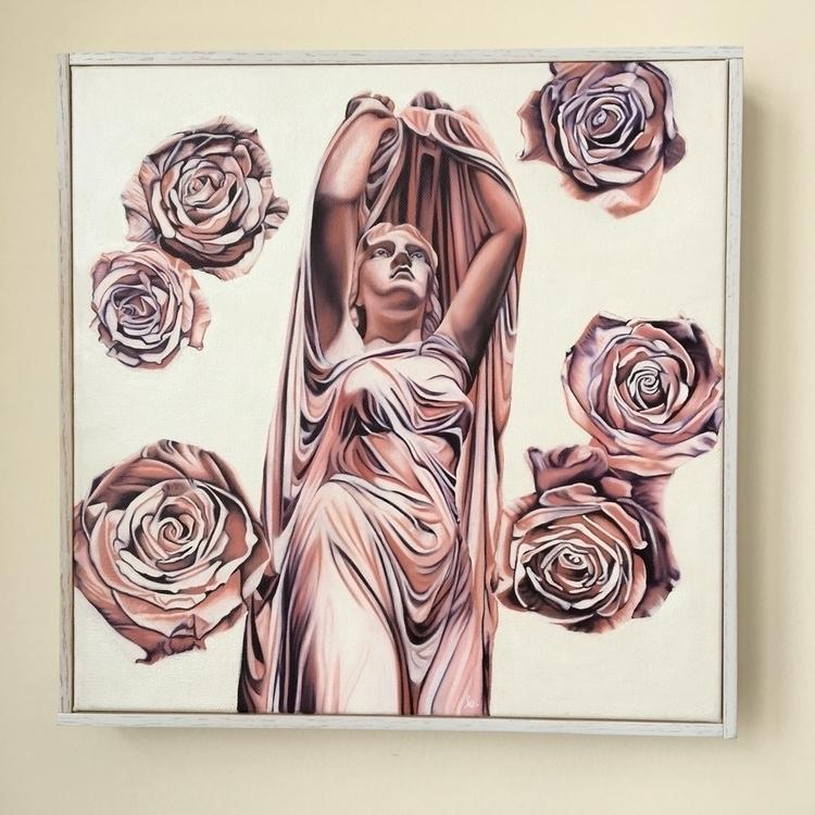 Undine oil canvas, 12 inches - brandiread | ello
