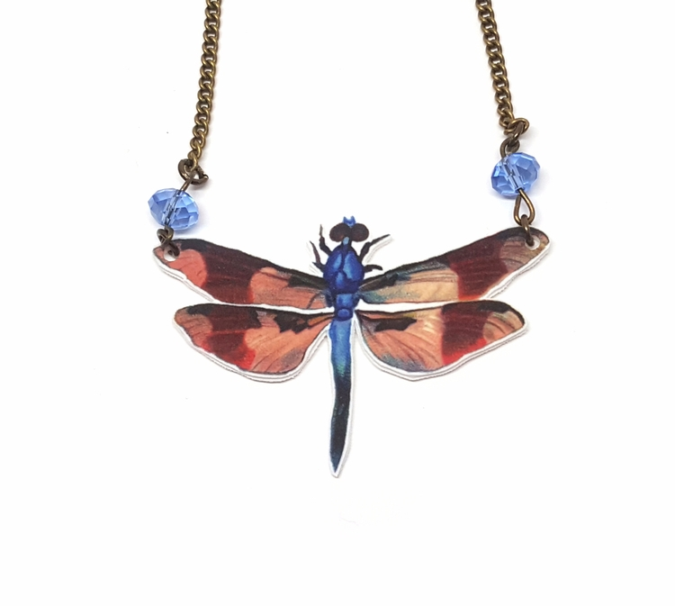 dragonfly, necklace, vintageinspired - gloriasanchez | ello