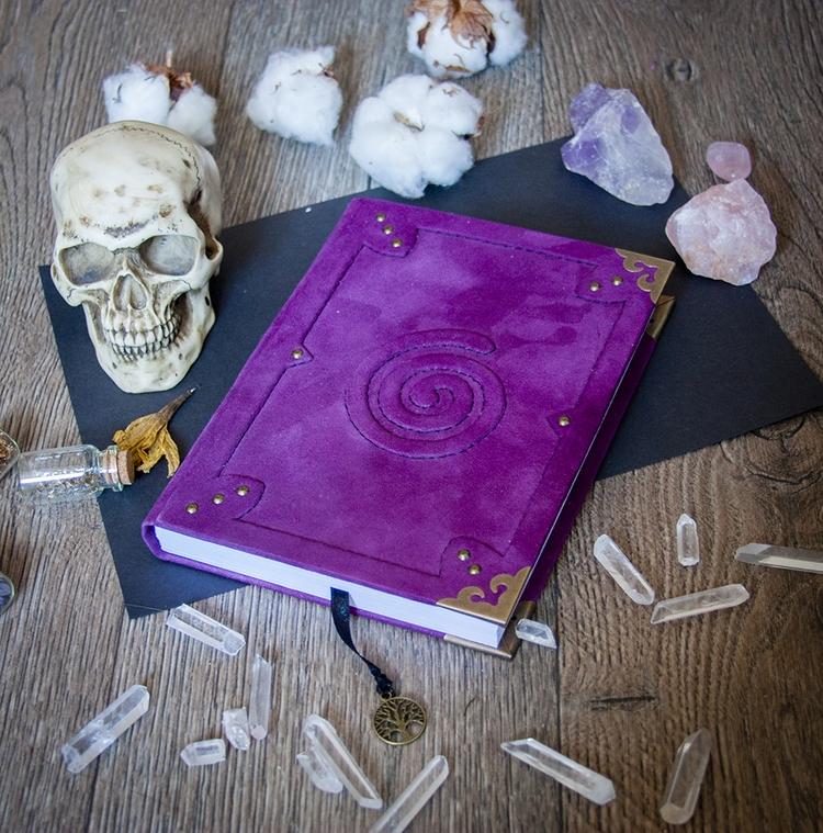 spiral, skull, handmade, witch - dustyburrow | ello