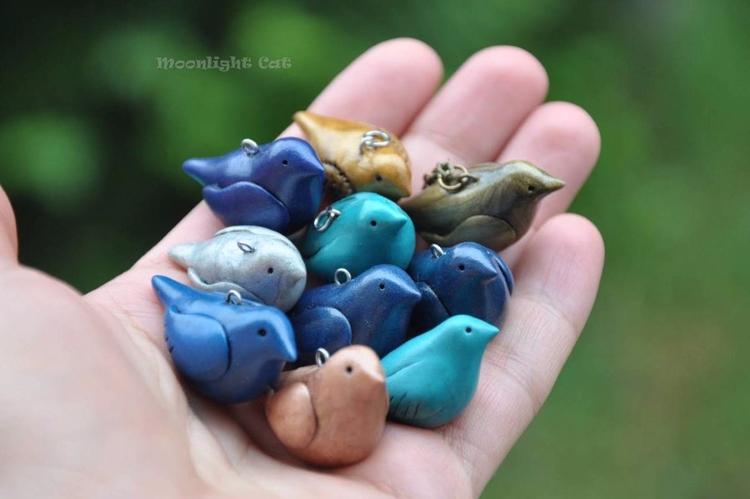 Birds - bird, birds, handmade, sculpture - moonlight_cat_dreams | ello
