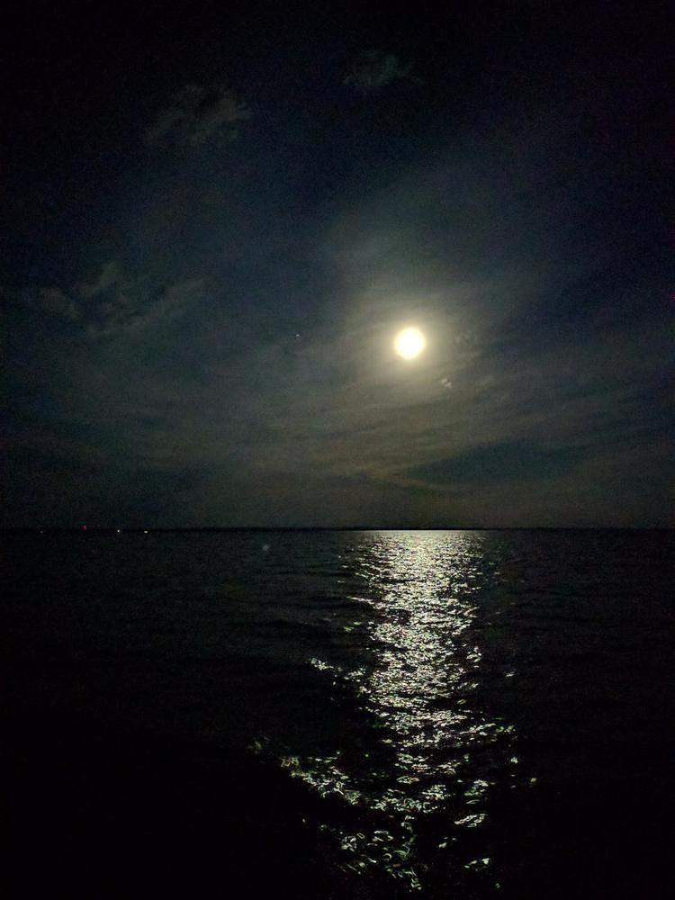 Partly cloudy full moon Lake Ni - jrcampbell | ello