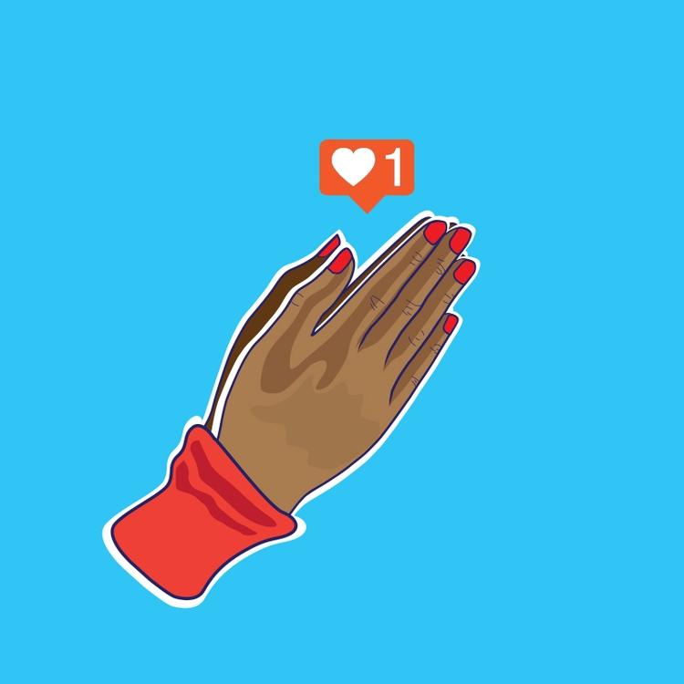 Post/Pray - Sticker - art, illustration - funpowder | ello