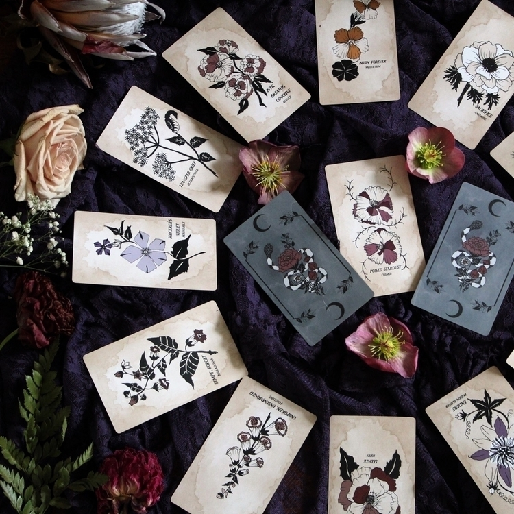 garden cards, Pythia Botanica O - leila_olive | ello