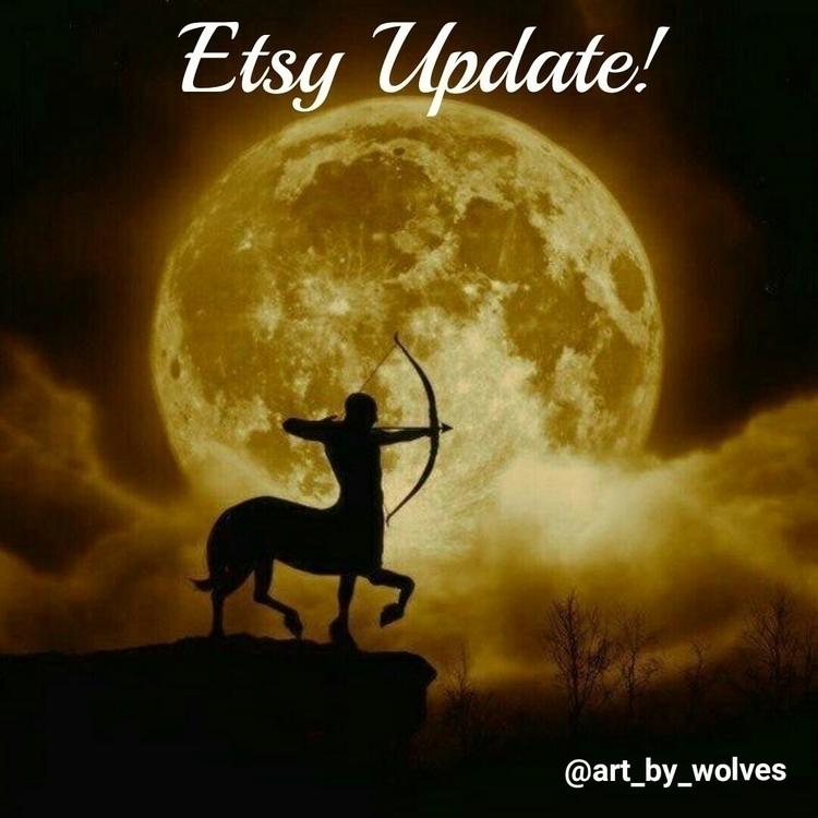 Happy Full Moon! Etsy shop upda - artbywolves   ello
