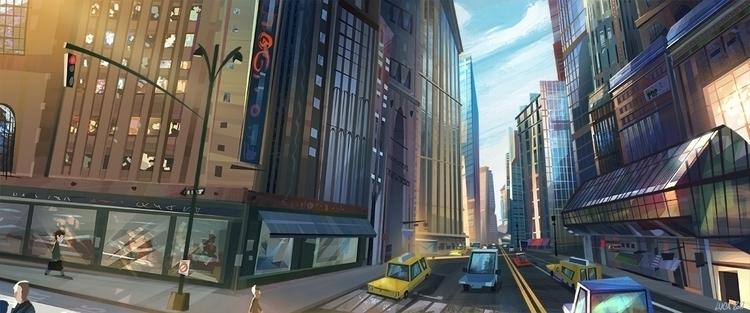 stylized urban view York City.  - lucapisanu | ello