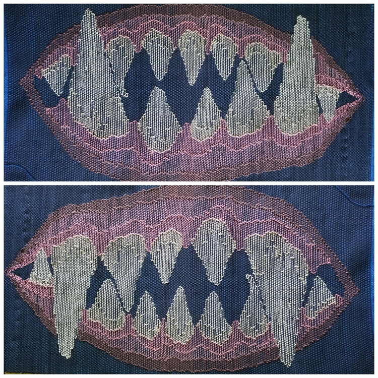 Rag rug fresh loom. monster jaw - annabweaving | ello
