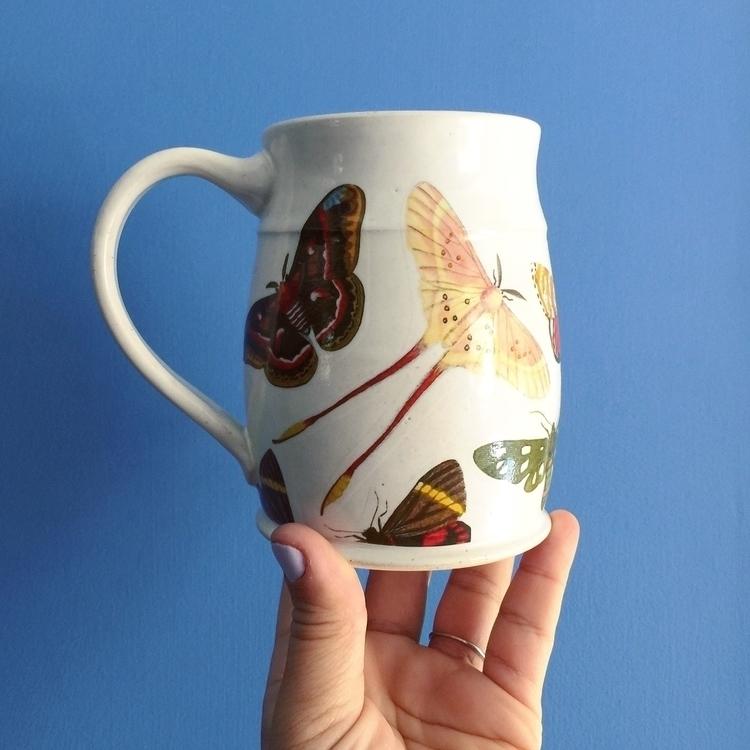 moth mugs update! thinking Aura - elanpottery | ello