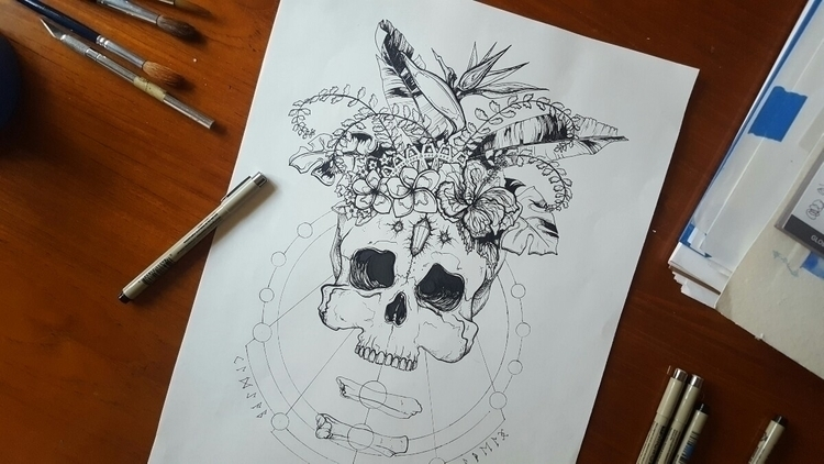 Atlantis Crystal Skull - art, illustration - deeni | ello