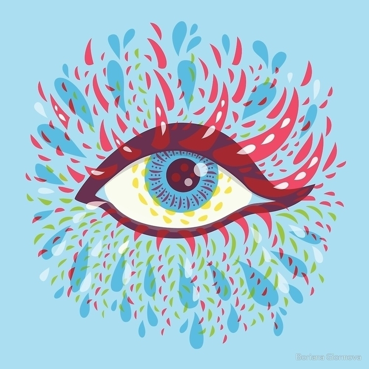 psychedelic eye featured page!  - borianag | ello