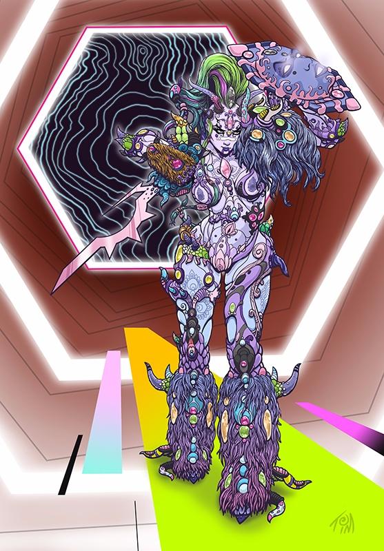 Rook, cosmic warrior goddess -  - timlukowiart2 | ello