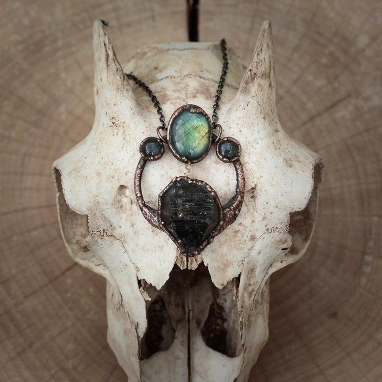 Labradorite smoky quartz pendan - edenandafter | ello