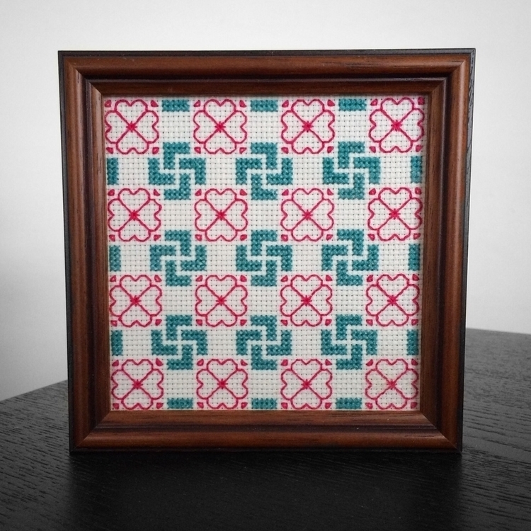 Framed sacred swastika geometri - nickistitch | ello