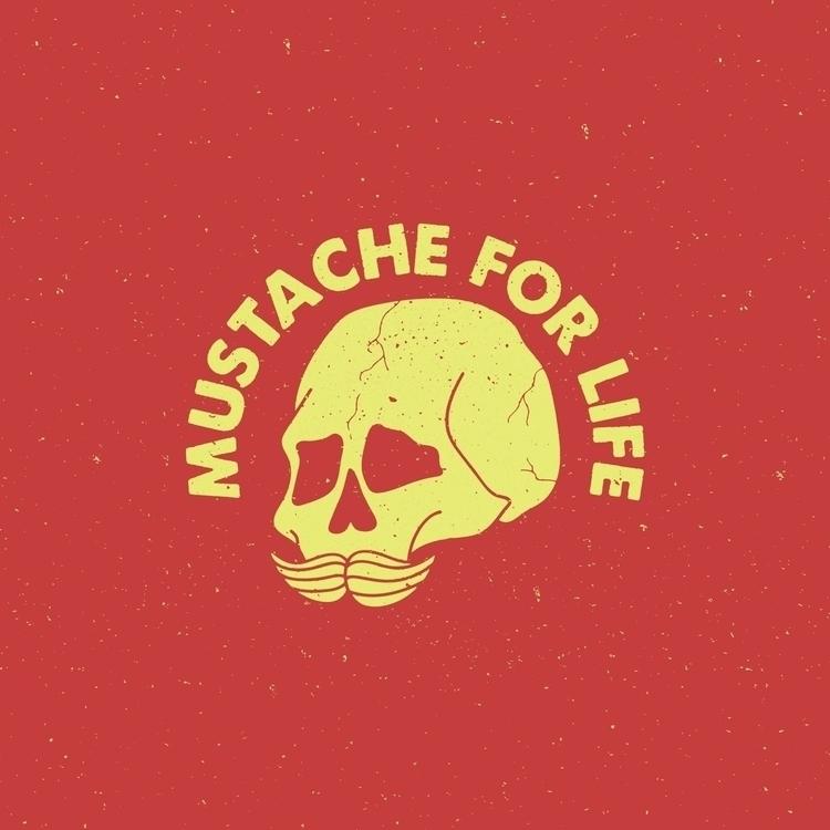 MUSTACHE LIFE - graphicdesign, illustration - charleypangus | ello