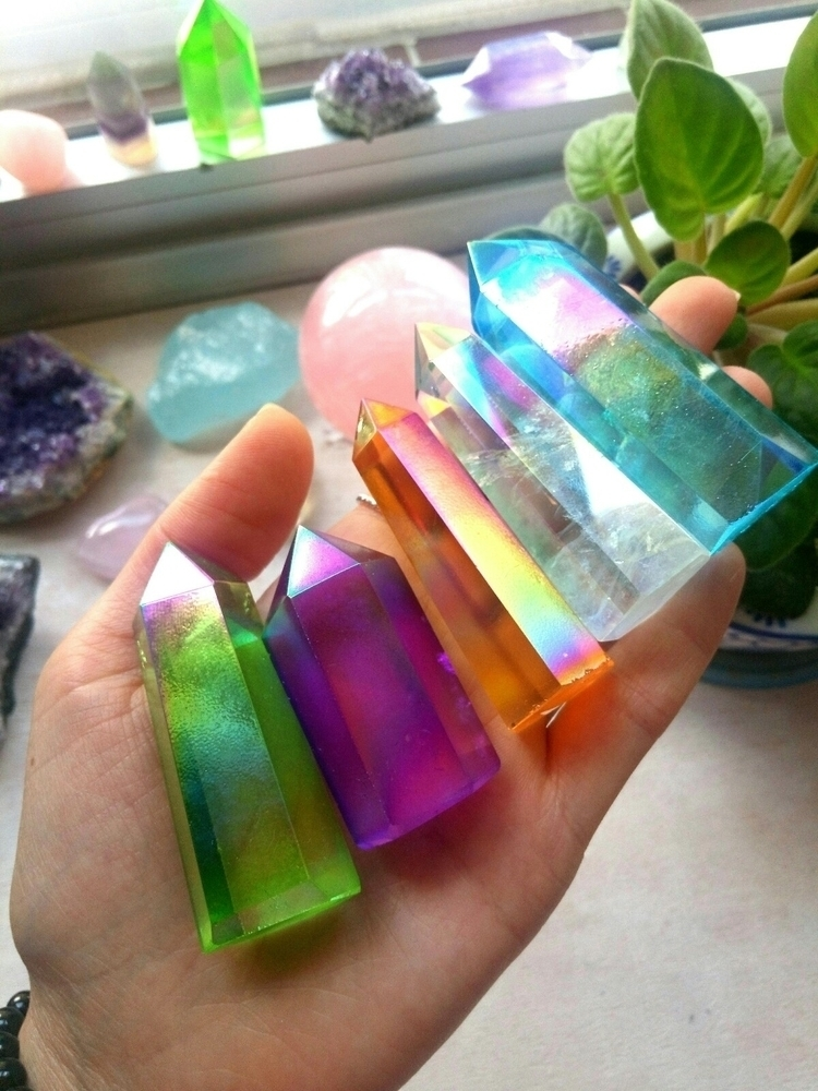 Aura Quartz Points - alivecrystals | ello