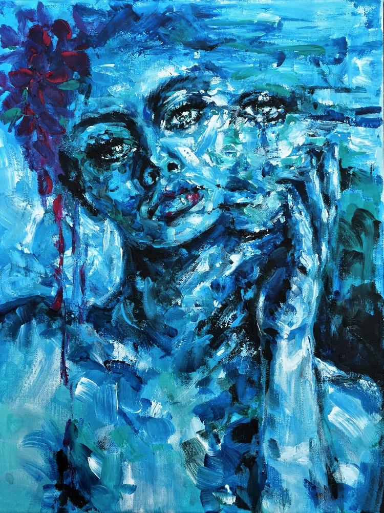 Shades Blue - fashionsketch#fashionillustration - ibreathart | ello