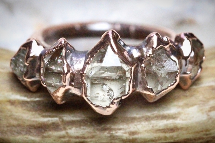 multi-crystal rings shop week.  - davkadeergirl | ello