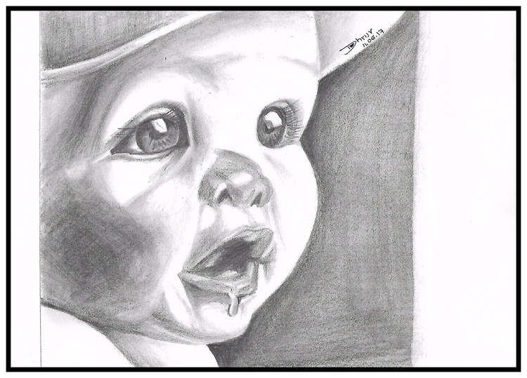 cute baby. 4B, 8B pencil stumpe - kiridhruv | ello