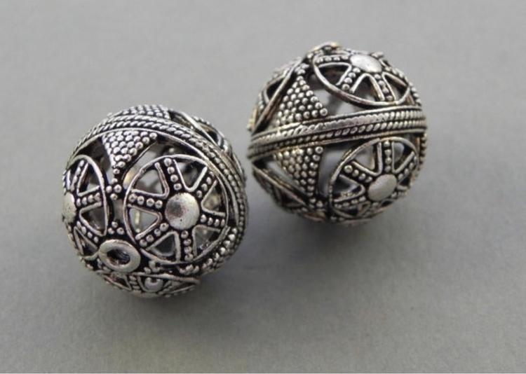 Mid Century metal ball beads#me - dnagems | ello