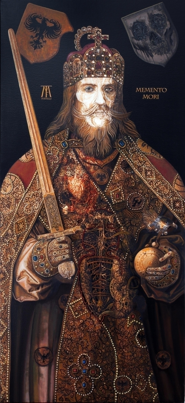 Charlemagne Acrylique sur toile - tuffelli | ello