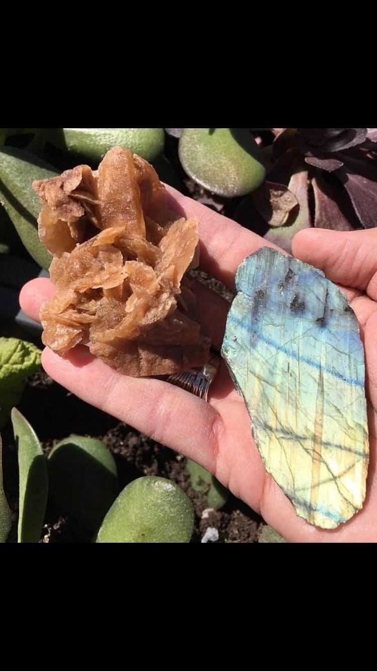 Desert Rose labradorite Slab se - sacredseacrystals | ello