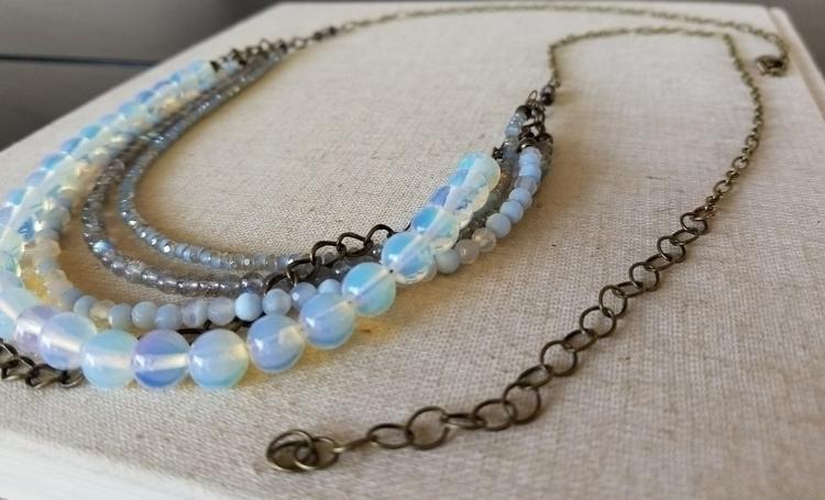 Bohemian 'Mia' Necklace Silver  - strandedkiwi | ello