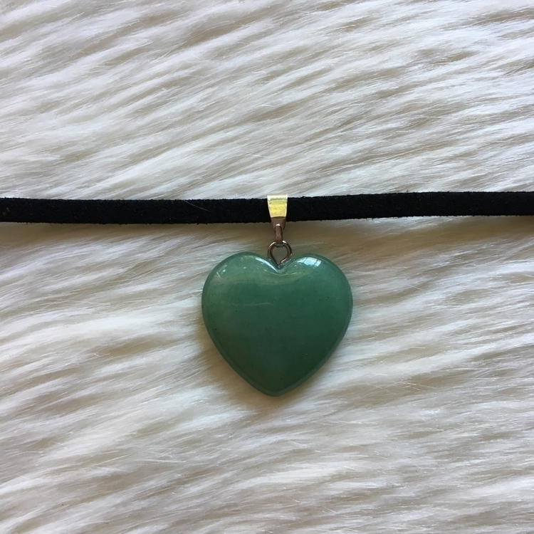 Green Aventurine Heart Choker s - thefaeriegodmother | ello