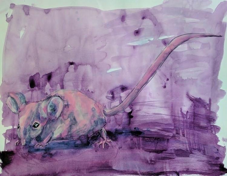 19 Acrylic paper 2017 - painting - lisabritton | ello