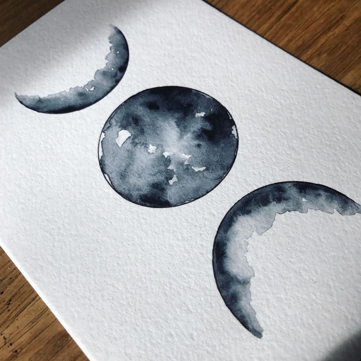 Current fave. 🖤 - moon, moonphases - everjupiter | ello