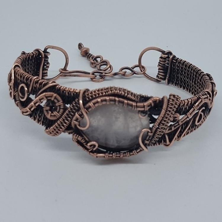 handmade rose quartz copper bra - jakdawgems | ello