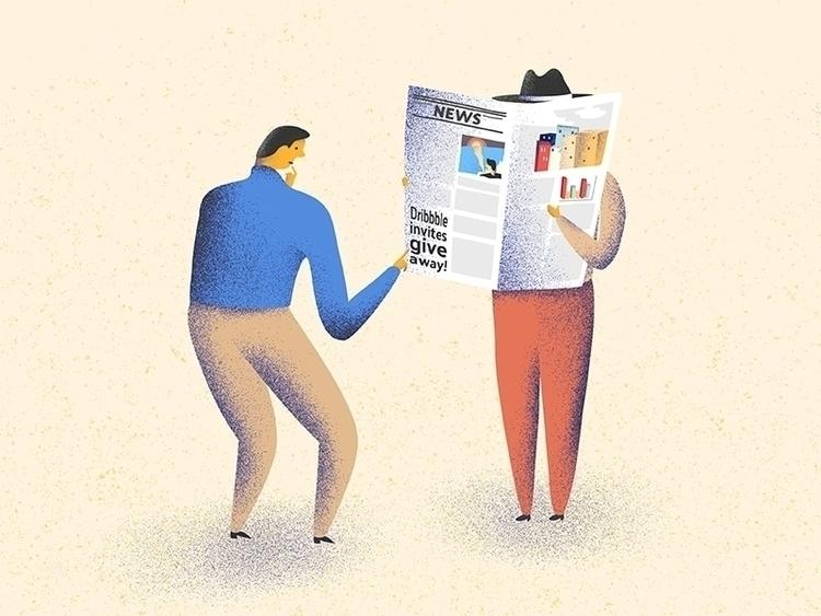 2 dribbble invites give send co - shimanski | ello