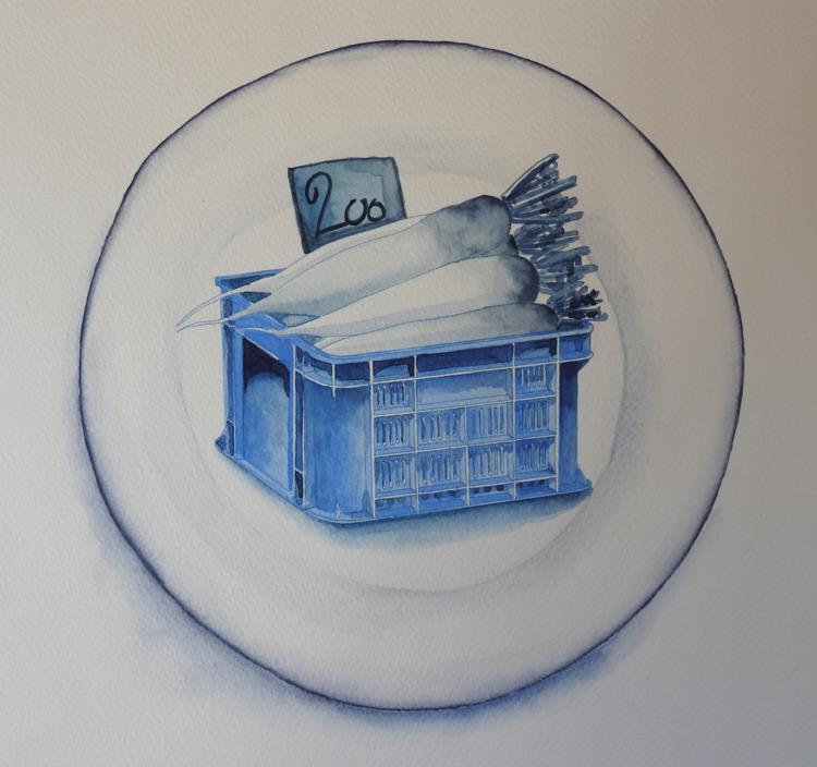 Blue Daikon - Imaginary Plate,  - bluebearvendingco | ello