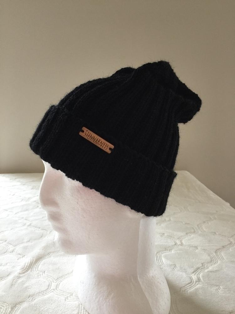 knitted wool beanie - blackbeanie - siennaknits | ello