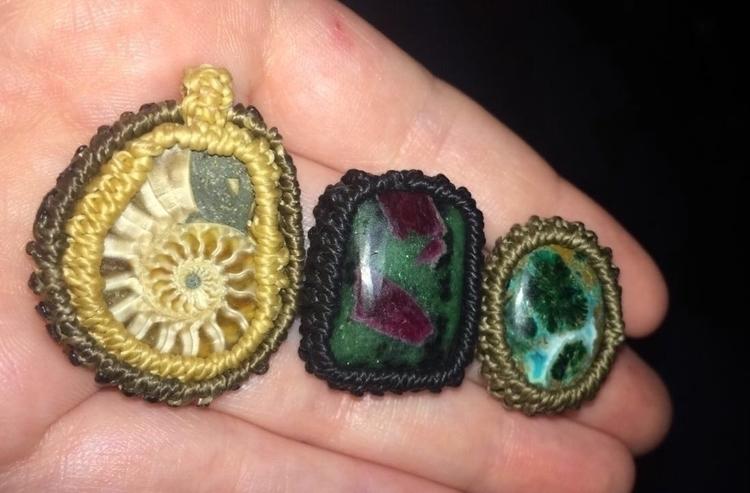 working  - ammonite, anyolite, crystals - tangleshandmade | ello