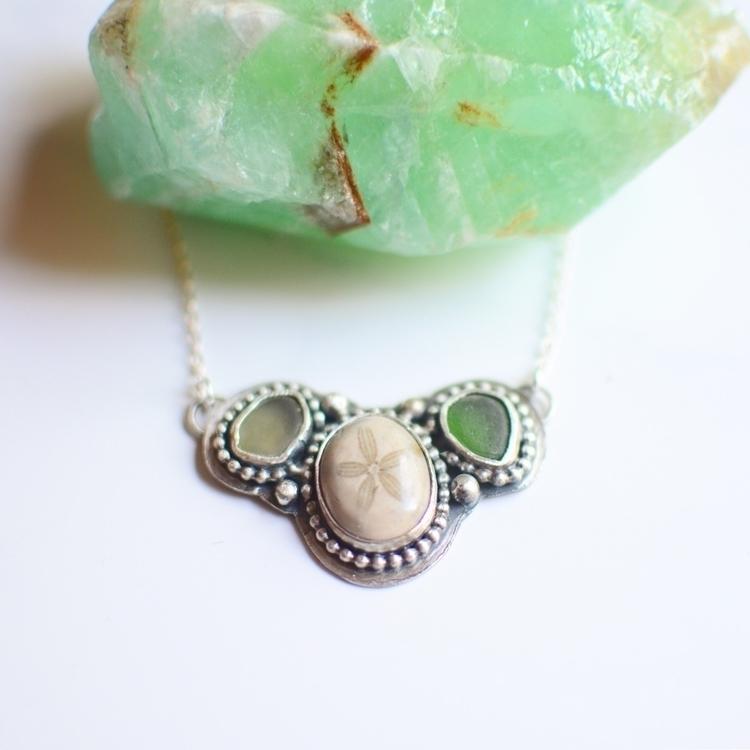 Sea glass sand dollar necklace - dwccreative | ello
