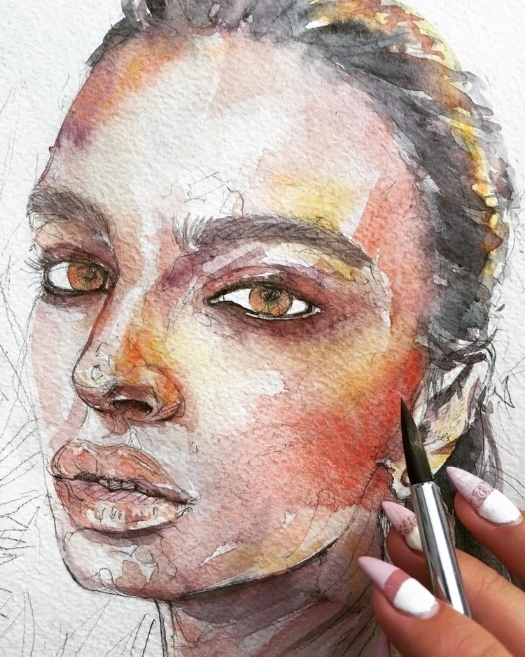 Work Progress  - fashionillustration - ibreathart | ello