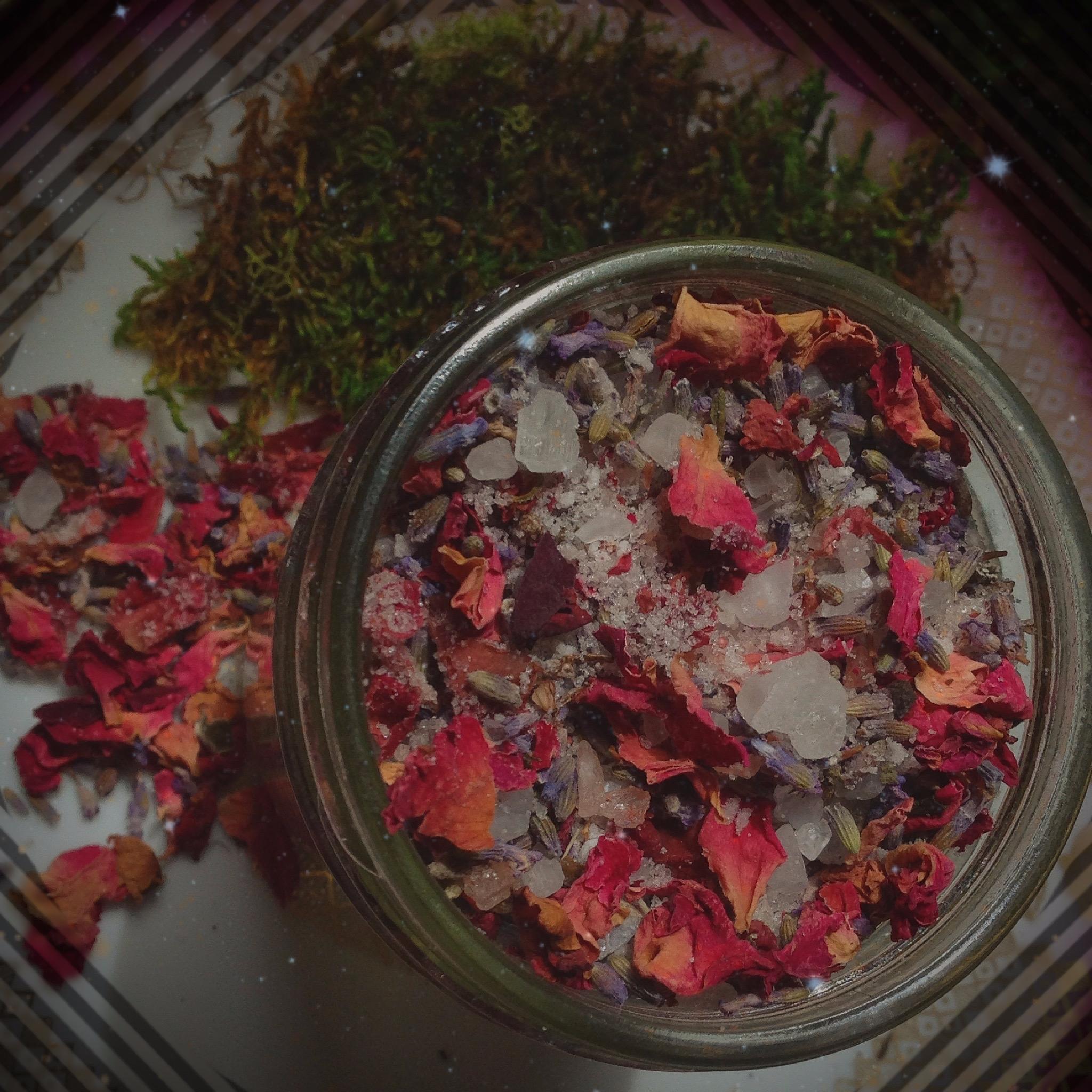 Lavender Arose salt soak, simpl - branchandbeak | ello