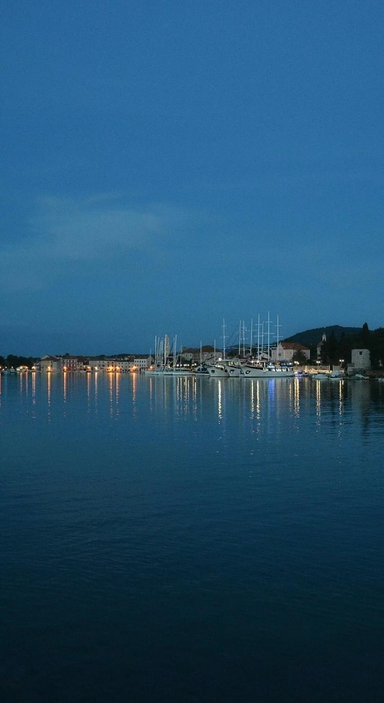 hvar, croatia, sea, blue, boats - aleksaleksa | ello