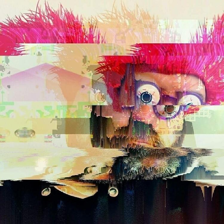 digital glitch selfie - cathalpaint - cathal_lindsay_art | ello